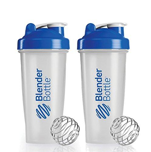 BlenderBottle Classic Shaker Bottle, 28-ounce, Blue (2-Pack)