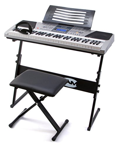 rockjam-rj661-61-key-electronic-interactive-teaching-piano-keyboard-with-stand-stool-and-headphones