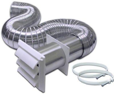 """Lambro 318W Flex Alum Dryer Vent Kit, 4"""" X 8' front-289521"""