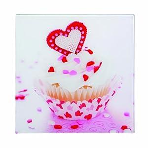 Premier Housewares Cupcake-1 Glass Print - 30 x 30 cm