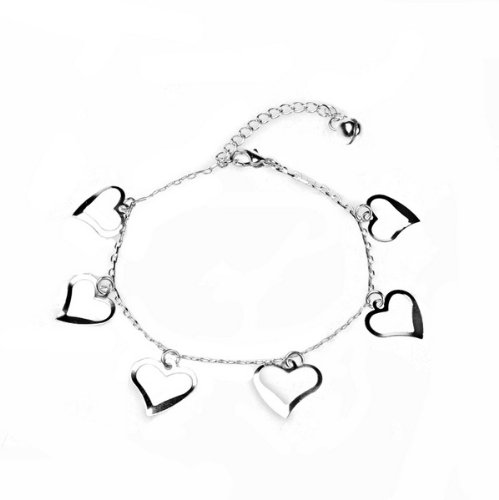 BestDealUSA Fashion Heart-Shaped 925 Silver Beautiful Bracelets