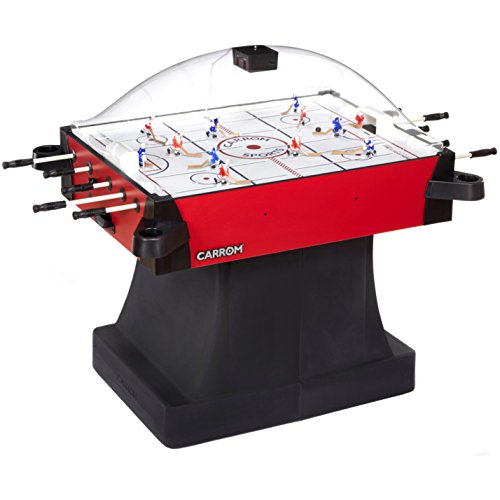 Carrom-42501-Signature-Stick-Hockey-Table-with-Pedestal-Red