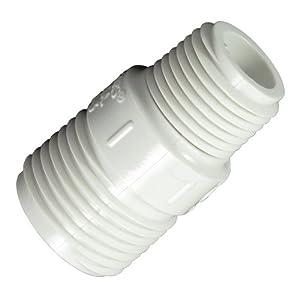 Garden hose adapter male pvc 3 4 mght x 1 2 mnpt water filters for Male to male garden hose adapter