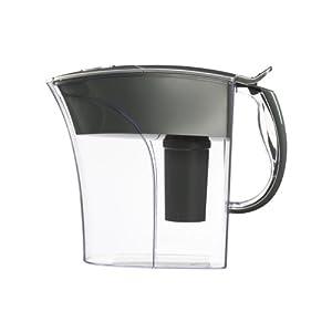 Brita Riviera Water Filter Pitcher, Chrome, 8 Cup by Brita