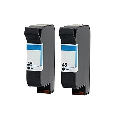 INKMATE Remanufactured For HP #45 2*Black Ink Cartridges Work With HP Color Copier HP Deskjet HP FAX HP OfficeJet HP PhotoSmart Series