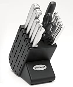 Cuisinart 14-pc. Stainless-Steel Set with Crate-Style Block