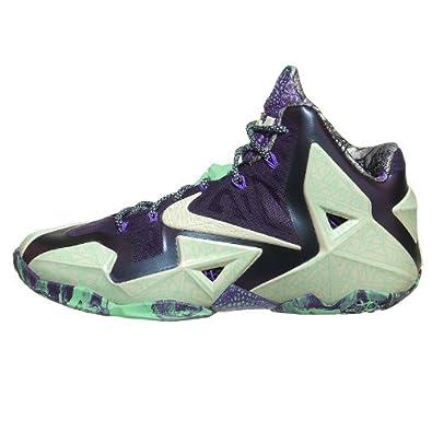 Buy Nike Lebron XI All Star Men Sneakers Cashmere Purple Dynasty Green Glow 647780-735 by Nike