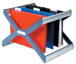 Rexel Crystalfile Extra Desk Organiser Silver