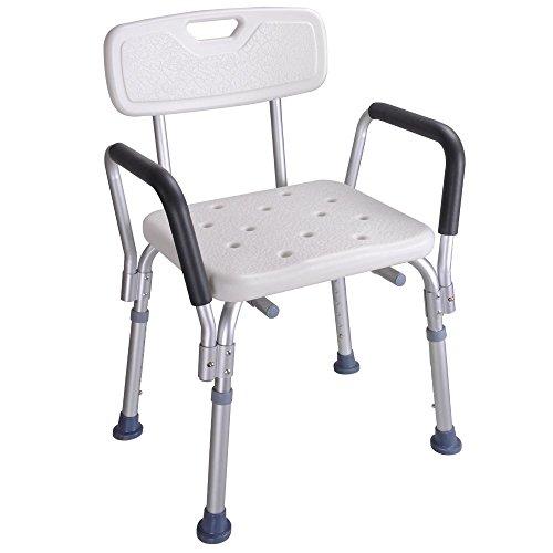 Medical Bath Shower Seat Armrest Back Bathtub Bench Chair Stool Safety Support