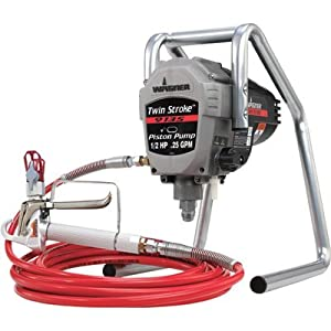 Wagner Twin Stroke Piston Pump Airless Paint Sprayer - 1/2 HP, .25 GPM, Model# 9135