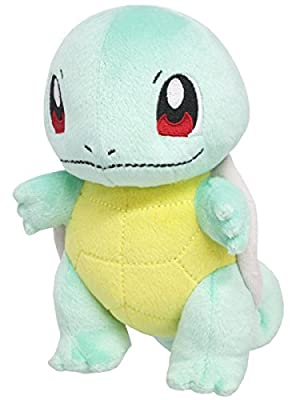 "Sanei Pokemon All Star Series PP19 Squirtle Stuffed Plush, 6"" by Japan VideoGames"