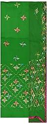 Rangoli Creations Women's Cotton Silk Unstitched Dress Material (Green)