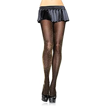Lurex Opaque Tights Bk/rd
