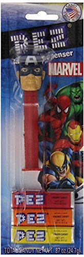 PEZ Candy Dispenser: Marvel Captain America in Blister Card