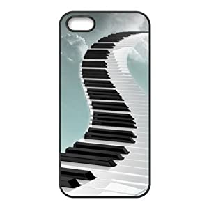 super shining day Discount Piano Pattern TPU Material Snap on Case Cover for iPhone 5/5S