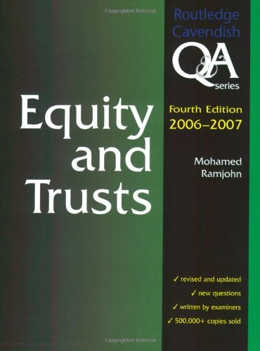 Equity & Trusts Q&A 2006-2007 (Questions and Answers)