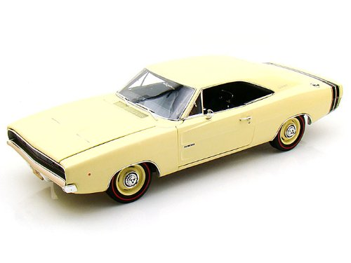 1968 Dodge Charger R/T Ss1 Light Yellow 1/18 Limited Edition 1 Of 1500 Produced Worldwide By Autoworld Amm972