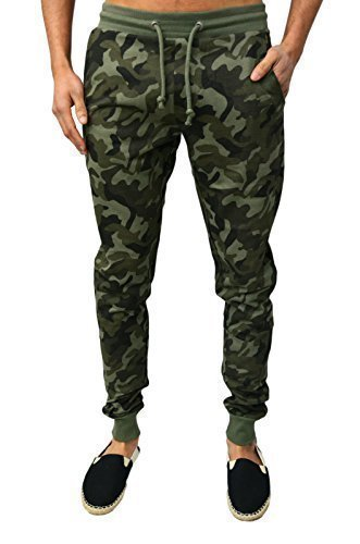 mens-boys-zico-designer-skinny-slim-fit-fleece-cuffed-joggers-casual-bottoms-pants-camouflage-army-g