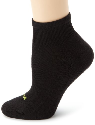 Hue Women's Air Sport 3 Pair Pack Quarter Socks, Black, OneSize Picture