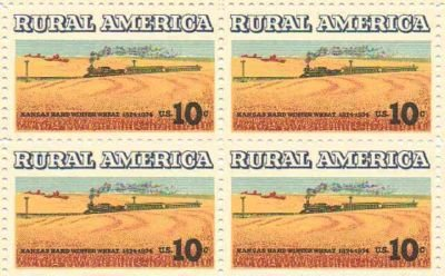 Rural America Kansas Winter Wheat Set of 4 x 10 Cent US Postage Stamps 1506