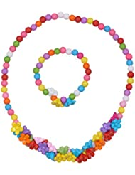 Angel Glitter Little Flower For Little One Necklace Set For Children