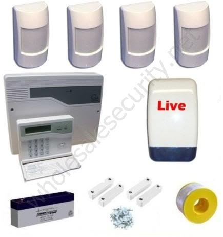 Wired Intruder / Burglar Alarm System c/w LCD Keypad Professional Kit