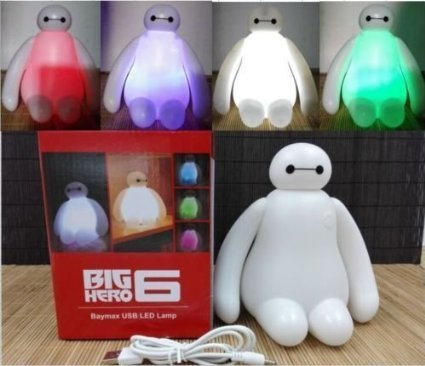 2015 New Color Changing Big Hero 6 Baymax USB LED Table Desk Lamp Light for Gift (Big Hero 6 Baymax Light compare prices)