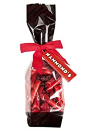Cinnamon Vanilla Filled Straws Candy 6 Oz Gift Bag Hammonds, Red