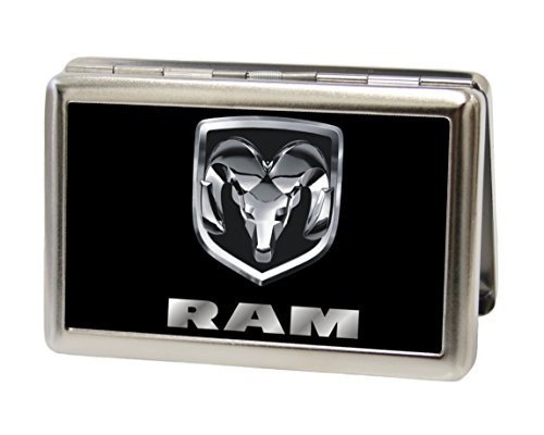 Dodge Automotive - Ram Logo on Black - Metal Multi-Use Wallet Business Card Holder