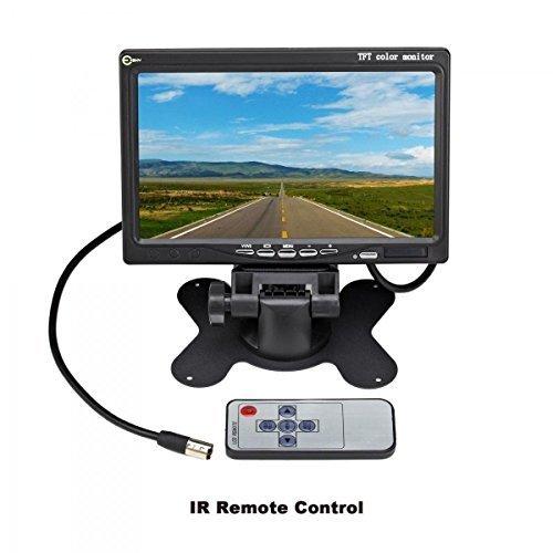 esky-7-tft-farb-lcd-auto-dvd-vcr-monitor-mit-2-kanal-videoeingang-fernbedienung-und-stander-fur-ruck