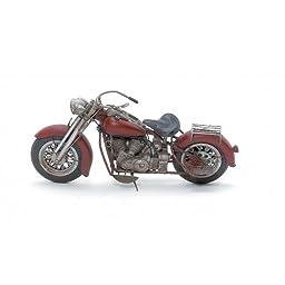 Large Vintage Looking Harley Type Tin Motorcycle Display Model