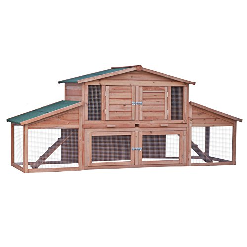 ALEKO-91X28X39-Inches-Wooden-Pet-House-Poultry-Hutch-Rabbits-Chickens-Hen-Coop-Wooden-Cage