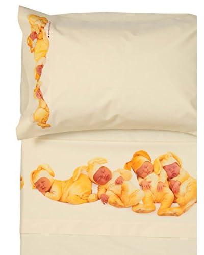 Anne Geddes Completo Lettino Bunnies lettino Giallo 120 x 180 cm