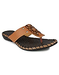 Zaak Womens Brown denim Shoes-10 UK
