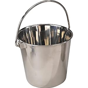 ProSelect Stainless Steel Heavy Duty Pail, 5-Inch, 1-Quart