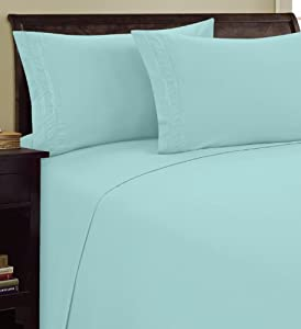 Elegance Linen ® 1500 Thread Count CHAIN DESIGN Egyptian Quality Luxurious Silky Soft WRINKLE & FADE RESISTANT 4 pc Sheet set, Deep Pocket Up to 16
