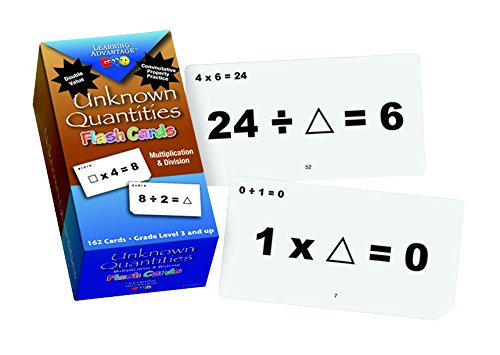 Learning Advantage 8652 Unknown Quantities Multiplication and Division Flash Cards