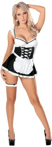 Escante French Maid, Black/White, Medium
