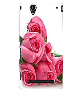 ColourCraft Lovely Rose Bouquet Design Back Case Cover for SONY XPERIA T2 ULTRA DUAL D5322
