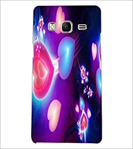 PrintDhaba Hearts D-2375 Back Case Cover for SAMSUNG Z3 (Multi-Coloured)
