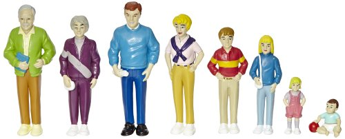 Marvel Pretend Play Family - Caucasian Dolls - Set of 8 (Dollhouse Family Figures compare prices)