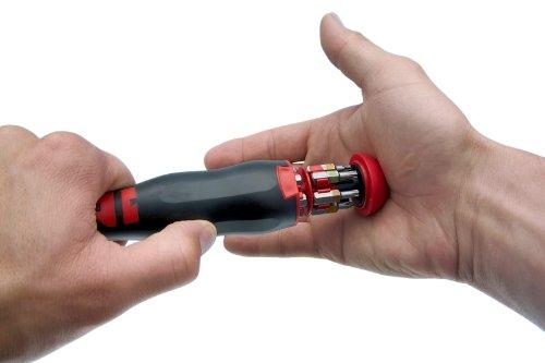 Wrth-Schraubendreher-Schraubenzieher-mit-Bit-Magazin-im-Griff-inkl-12-Bits-Sehr-Praktisch-Rundklinge-mit-Magnet-NEU