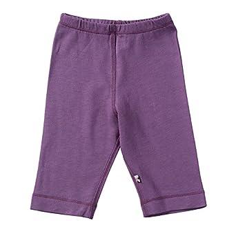 Babysoy Baby Girls' Slip-On-Pant - Eggplant - 0-3 Months