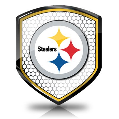 NFL Pittsburgh Steelers Shield Shape Auto Reflector, Official Licensed at SteelerMania