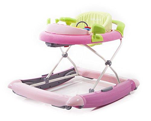 GIRELLO A NORMA con dondolo, giochi, suoni Cars II - Colore rosa verde