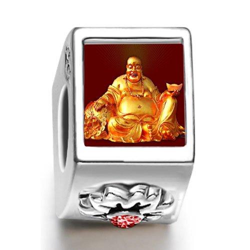 Soufeel Religion Huge Buddha Figure January birthstone Photo Flower European Charm Bead Bracelets