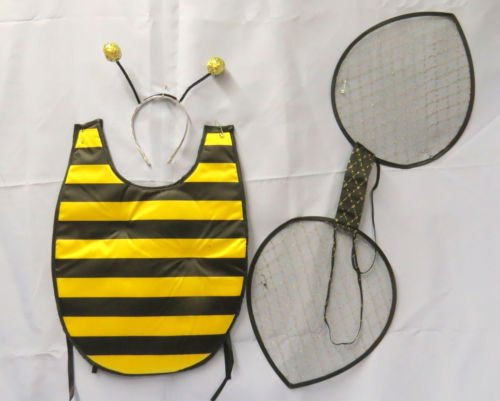 [Bumble Bee Deluxe Halloween Party Costume Kit] (Eye Makeup For Bumble Bee Costume)