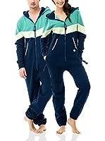 ZIPUPS Mono-Pijama Vantage (Azul / Verde Claro)