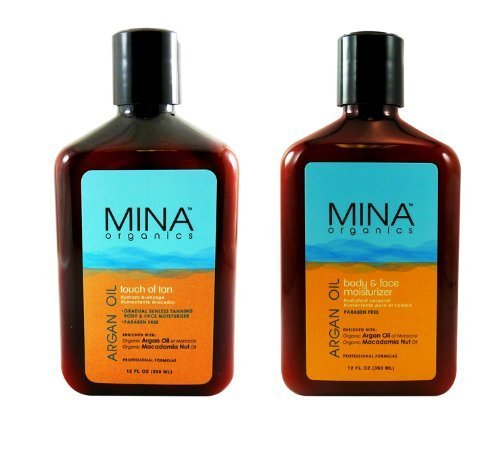 Mina Organics Argan Oil Skin Care Duo (Face &