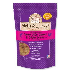 Detail image Stella & Chewy's Freeze-Dried Salmon & Chicken Dinner for Cats, 12oz